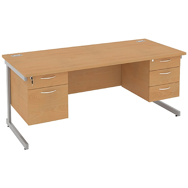 NEXT DAY Solar Rectangular Cantilever Desks With D