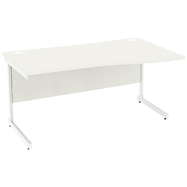 NEXT DAY Vogue White Wave Cantilever Desks