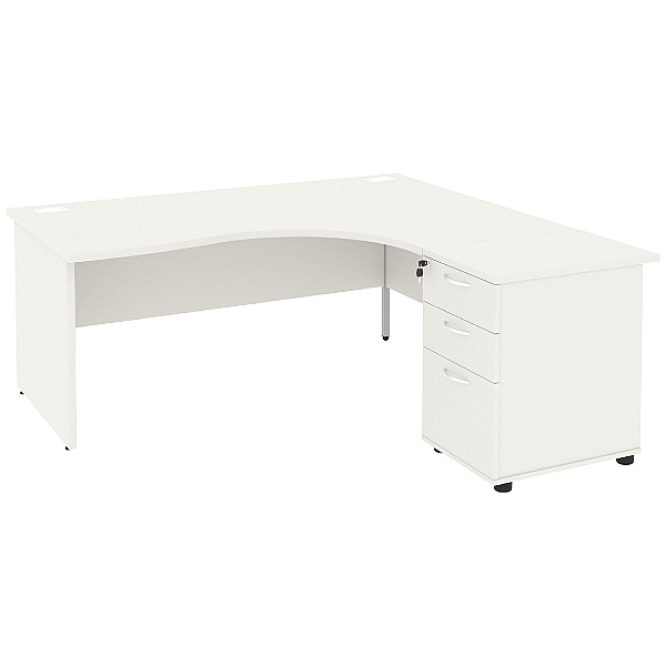 Special Offer - NEXT DAY Vogue White Panel End Combi Desks