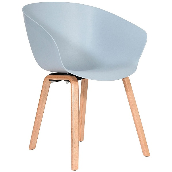 Summit Scoot Polypropylene Wooden Leg Chair