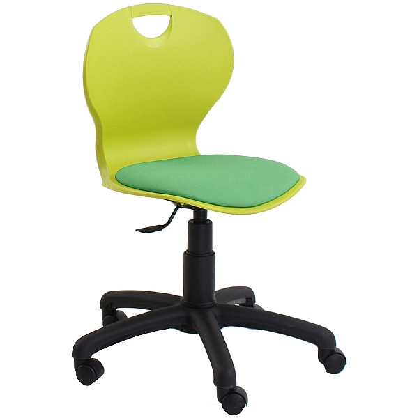 Evo Polypropylene Swivel Chair With Upholstered Se