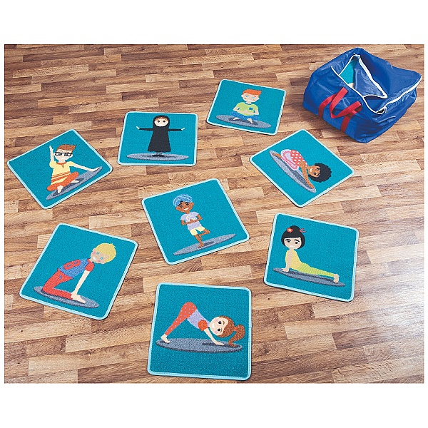 Yoga Position Mini Placement Carpets