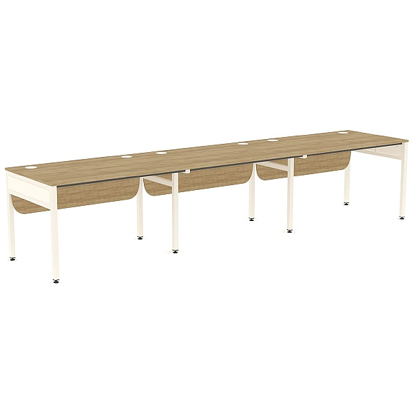 Ratio 3 Person Side By Side Bench Desk