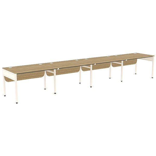 Ratio 4 Person Side By Side Bench Desk