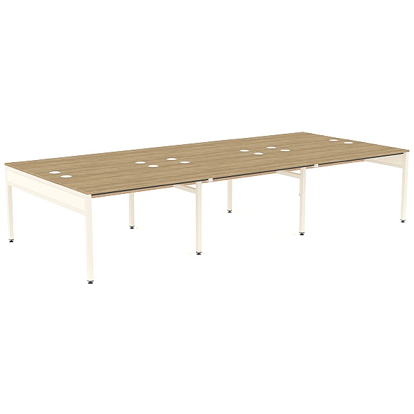 Ratio 6 Person Back to Back Bench Desk