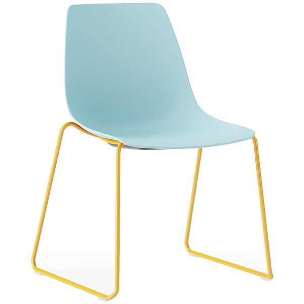 Boss Design Ola Plastic Skid Base Chair