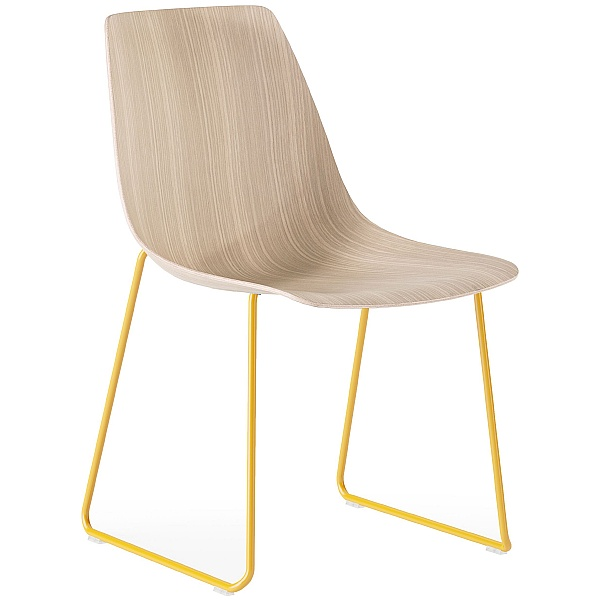 Boss Design Ola Skid Base Wooden Chair