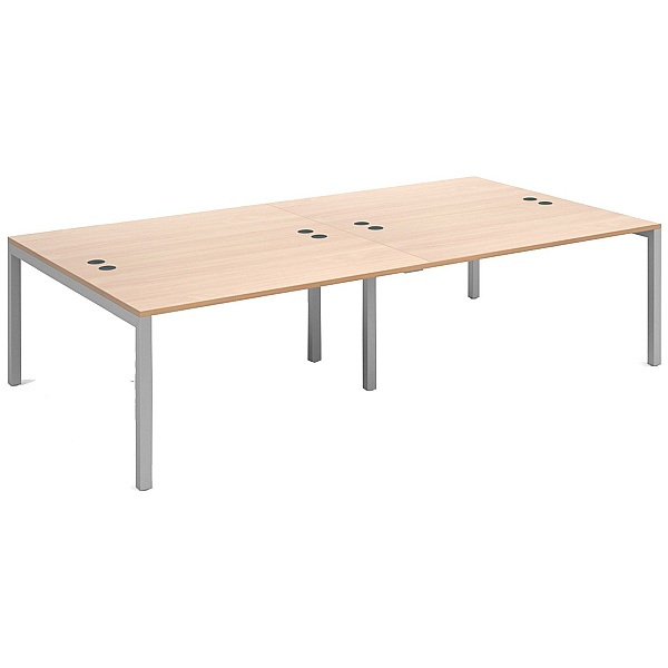 Parallel Double Back to Back Bench Desk