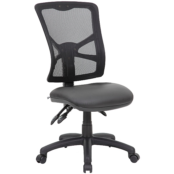 Comfort Ergo 3-Lever Mesh and Leather Operator Chair