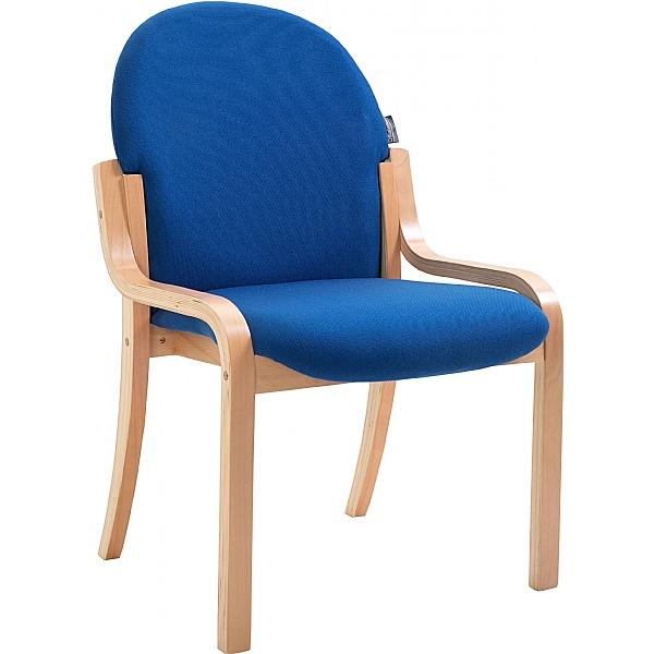 Lincoln Wooden Frame Fabric Stacking Chair Without Arms