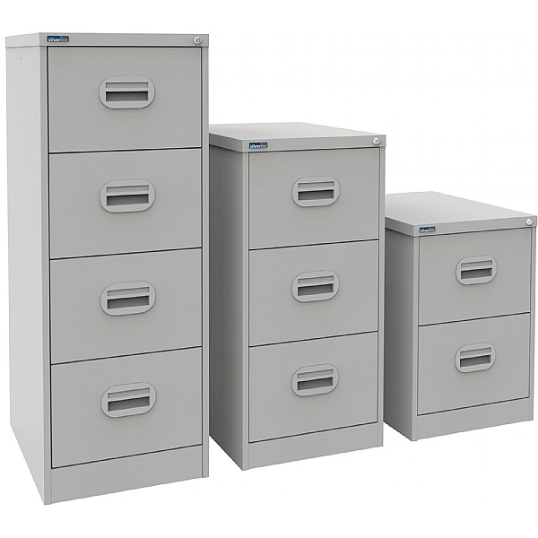 Silverline Kontrax Filing Cabinets Light Grey
