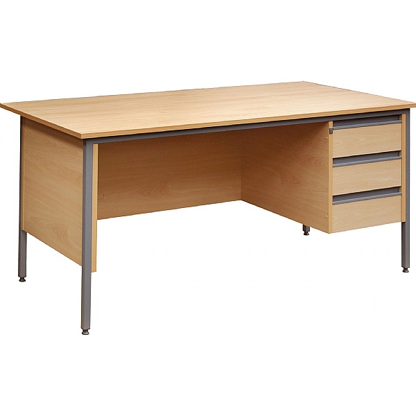 Nova Rectangular H Leg Single Pedestal Desks