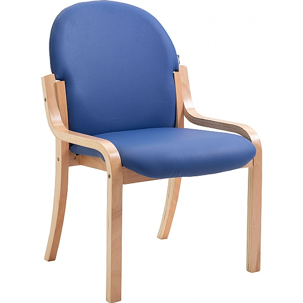 Lincoln Wooden Frame Vinyl Stacking Chair Without Arms