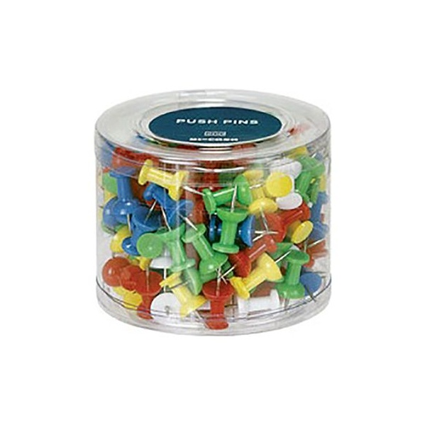 Box of 200 Coloured Push Pins