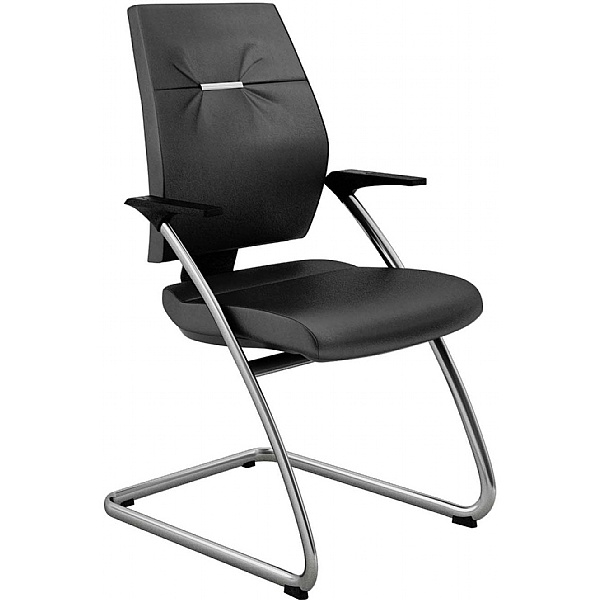 Gresham Take Off Executive Leather Visitor Chairs