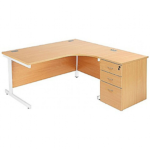 NEXT DAY Commerce II Ergonomic Desks With Desk High Pedestal