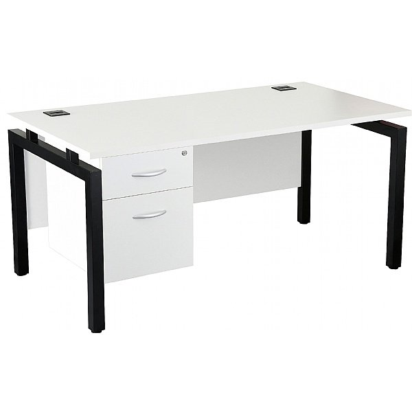 NEXT DAY Karbon K4 Rectangular Bench Desks with Si