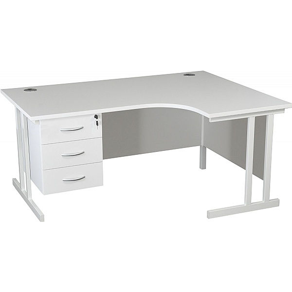 NEXT DAY Karbon K3 Ergonomic Deluxe Cantilever Desk With Fixed Pedestal