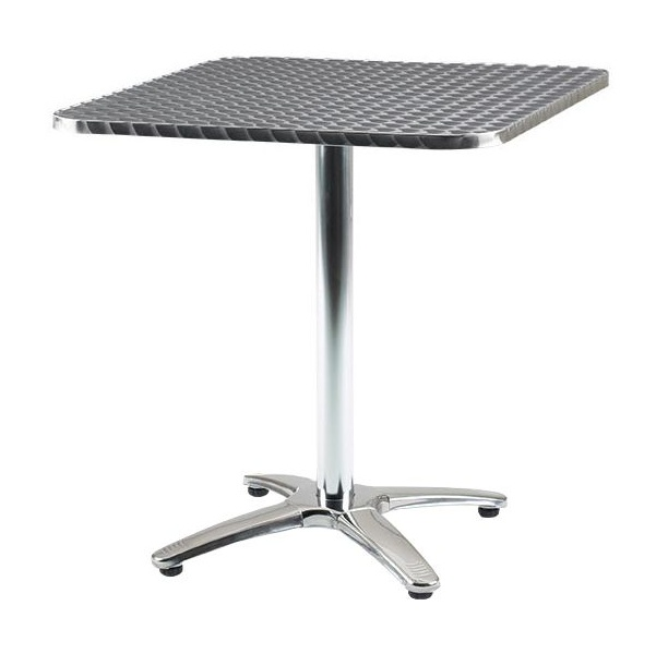 Aluminium Bistro Square Table