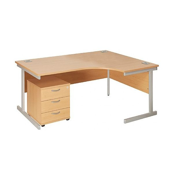 NEXT DAY Commerce II Ergonomic Desks With Mobile Pedestal