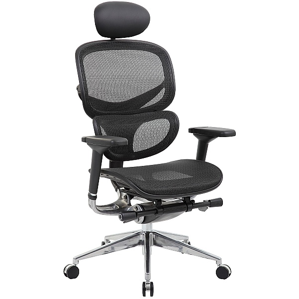 inSync 24 Hour Mesh Office Chair With Leather Headrest