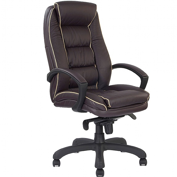 Rome Leather Manager Chair Burgundy