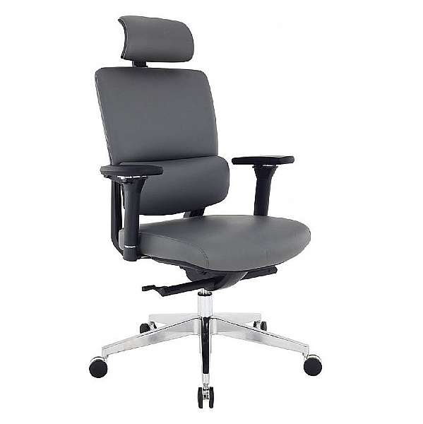 Parity Executive Leather Chair Grey