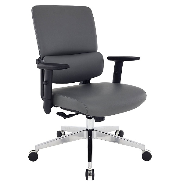Parity Leather Task Chair - Grey