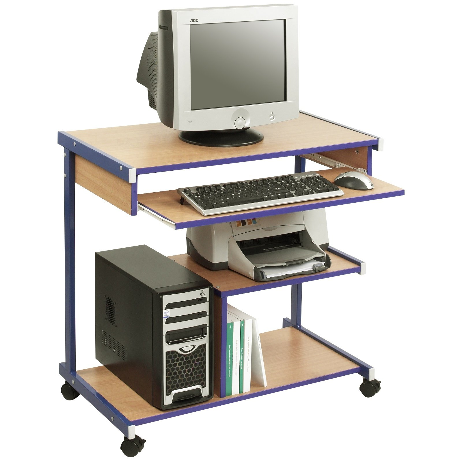 - Tower Mobile Classroom Computer Desks Computer Trolleys
