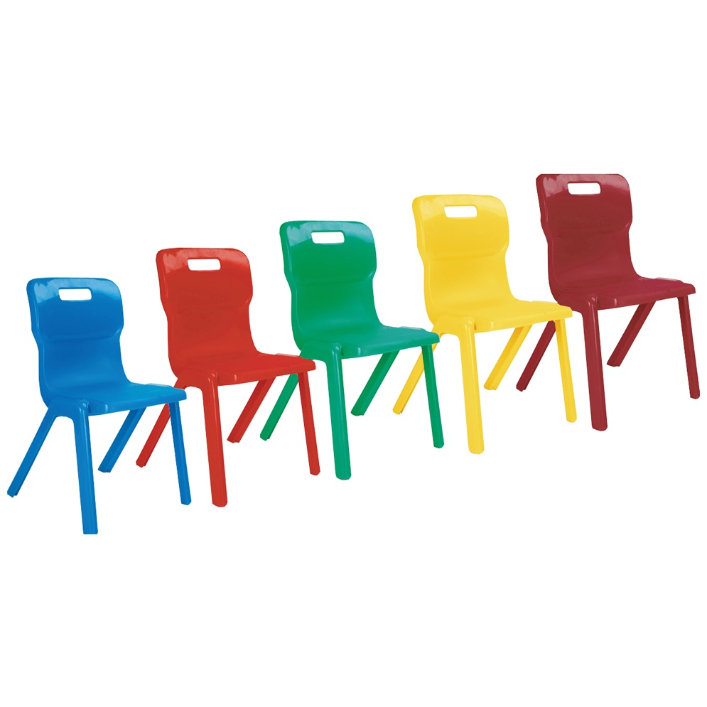 Plastic Charcoal Size 5 for Ages 9-13 Years Titan One Piece Classroom Chair