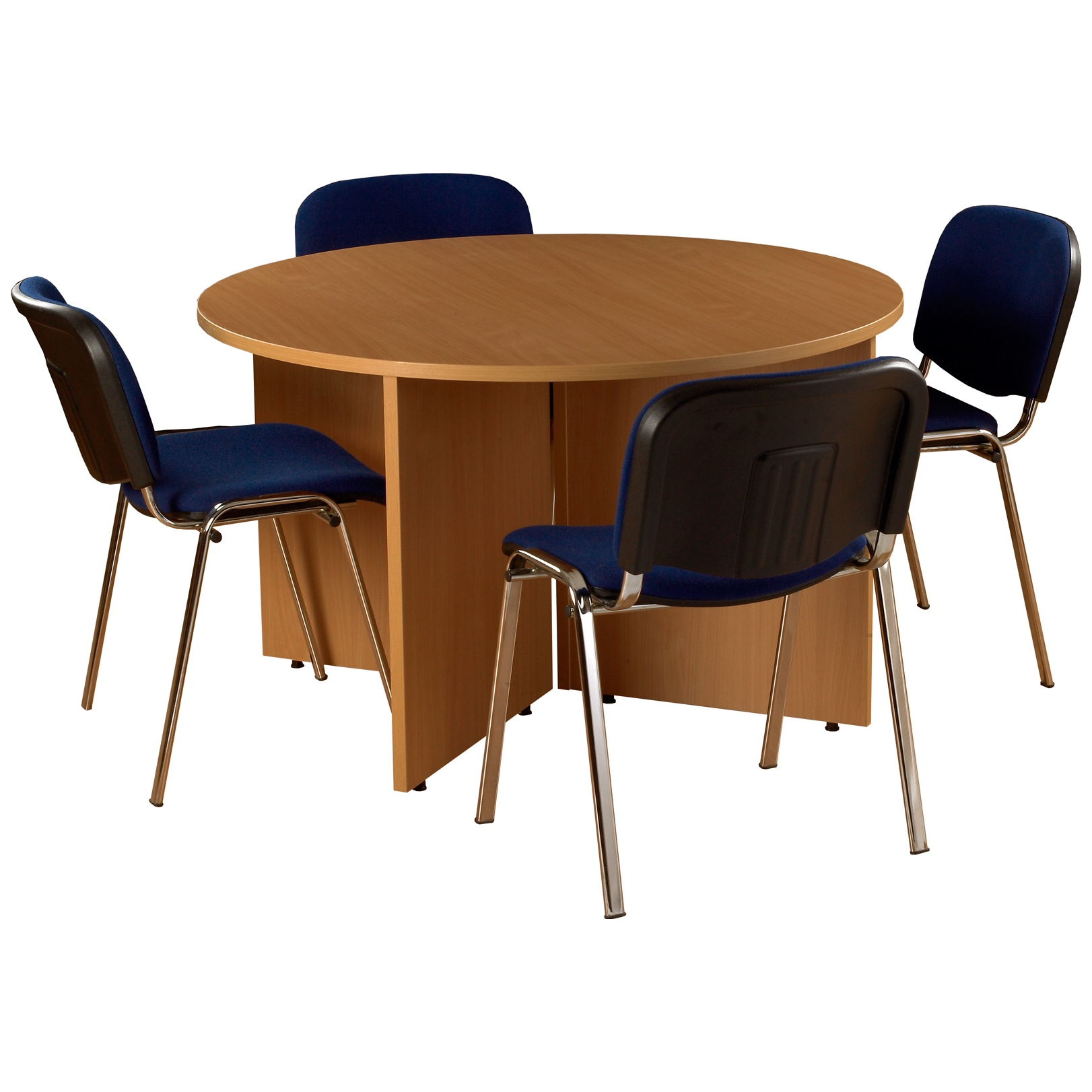 Bundle Deal Round Meeting Table With 4 Chairs Meeting Room Tables