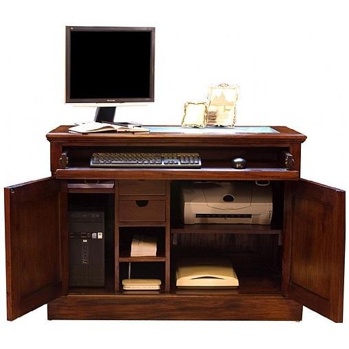 Argento Solid Mahogany Computer Desk Hideaway Computer Desks
