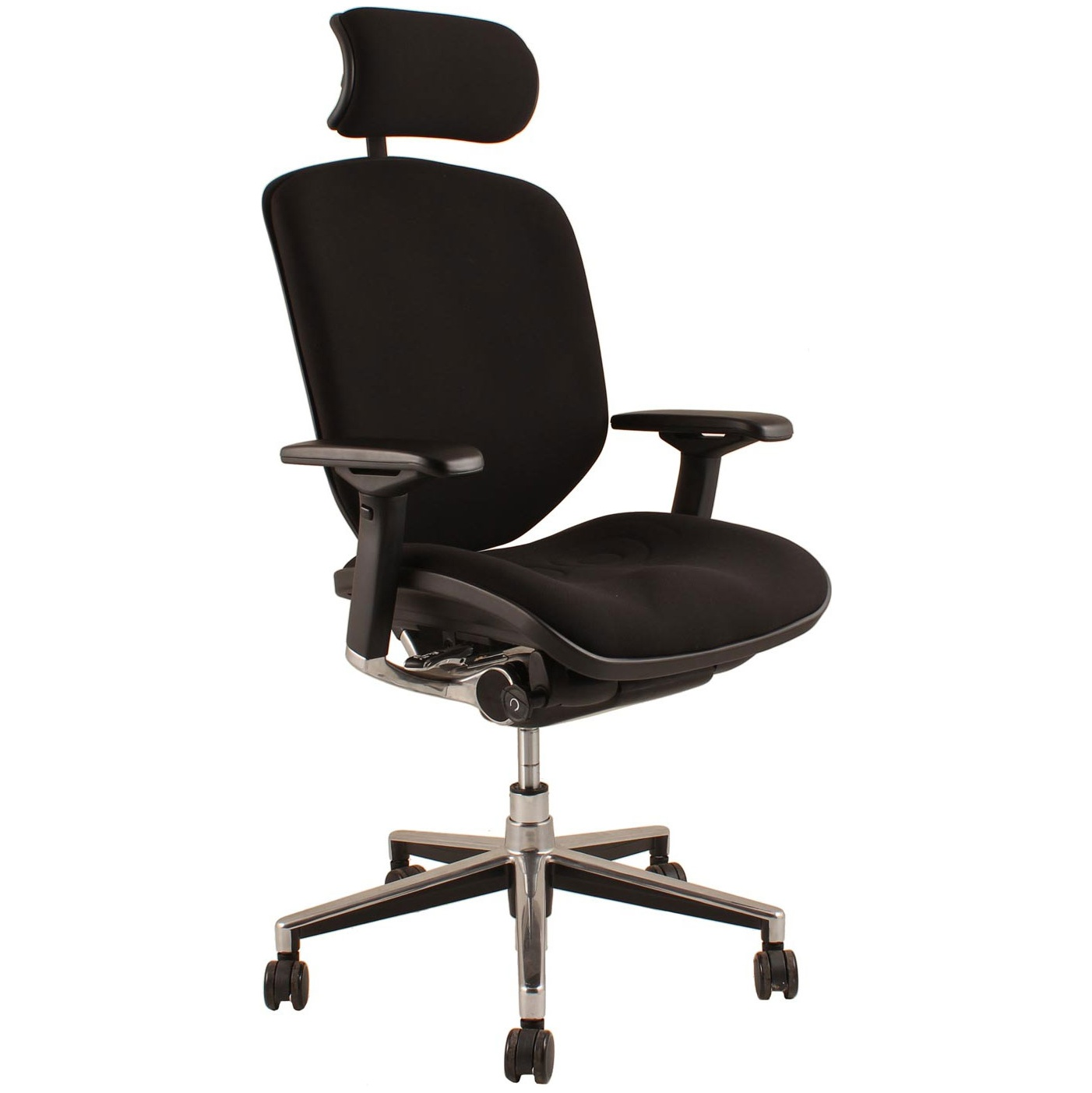Picture of: Enjoy Fabric Office Chair With Headrest Ergonomic Office Chairs