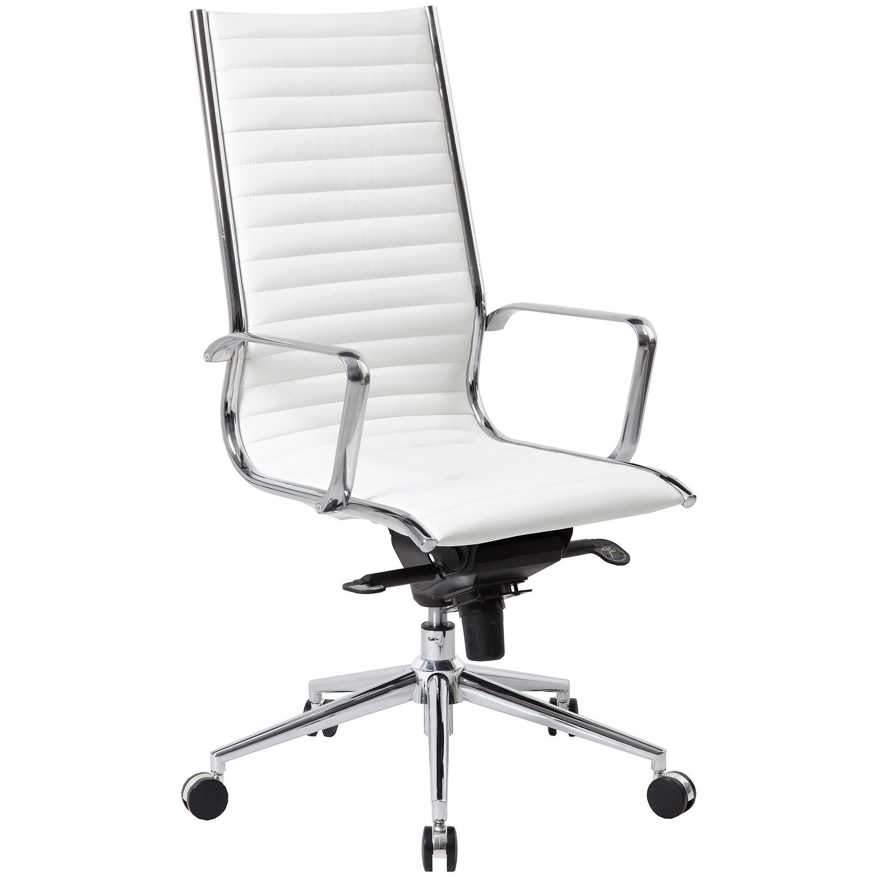 Abbey High Back White Leather Office Chair Executive Office Chairs