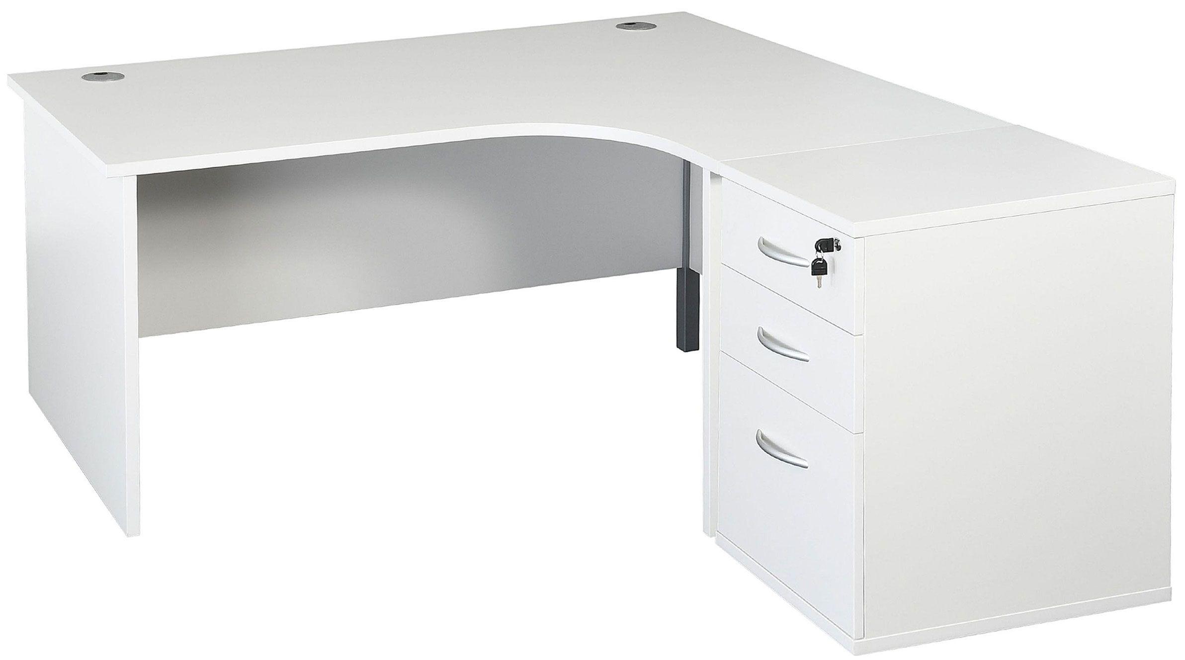 Next Day Karbon K2 Ergonomic Panel End Office Desks With 600d Desk End Pedestal Free Uk Delivery