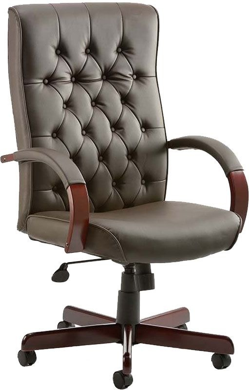 Traditional Button Back Bonded Leather Executive Chairs Executive Office Chairs
