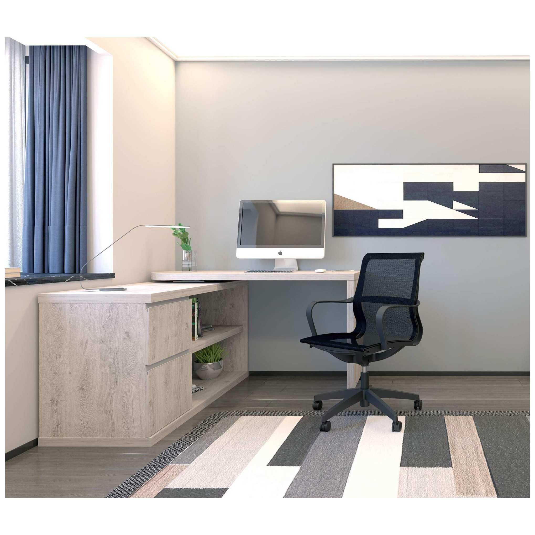 Mezcal Home Office Desk Set Grey Oak Computer Desks