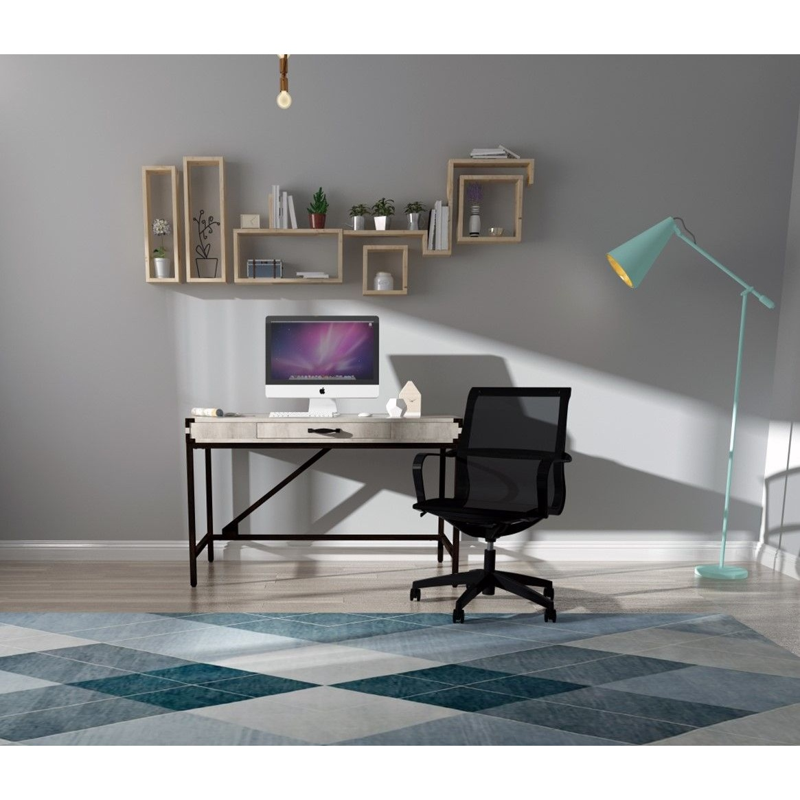 Office Desk Set With Mesh Chair, Home Office Desk And Chair Set Uk