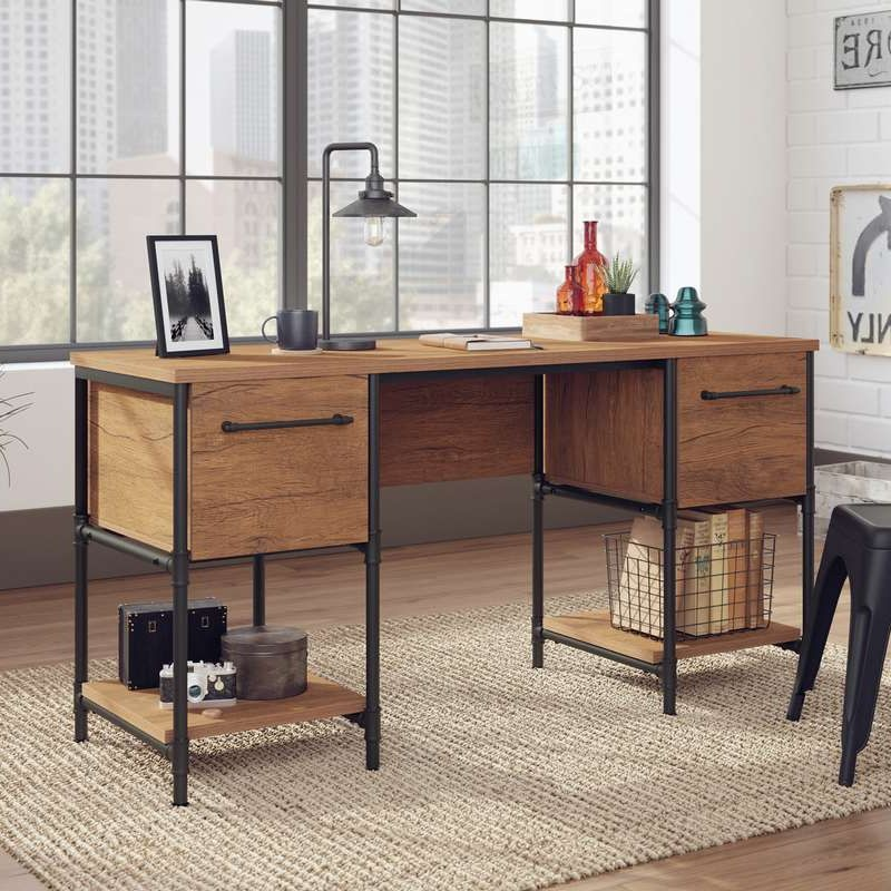 Fabrica Industrial Style Double, Double Desk Home Office Uk
